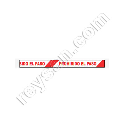 RUBAN PVC PASSAGE INTERDIT