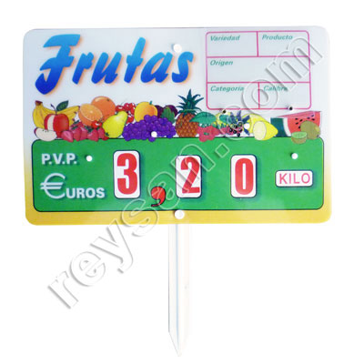 PORTE-PRIX 1 FRUITS 2037