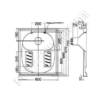wc turc encastrable inox. Black Bedroom Furniture Sets. Home Design Ideas