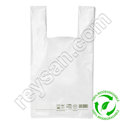 SAC T-SHIRT BIODÉGRADABLE 40 X 60 CM